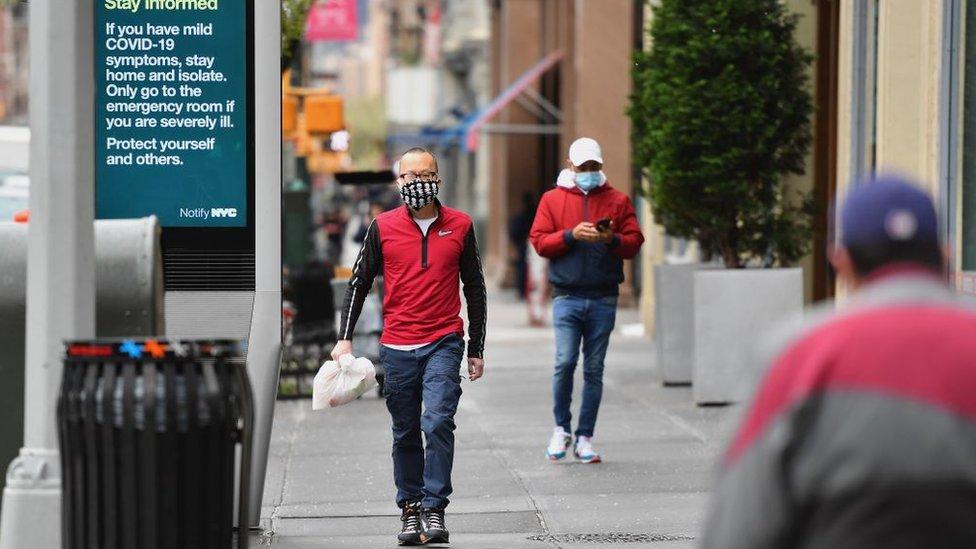 紐約市長白思豪(Bill de Blasio)已經建議所有紐約人都戴口罩。