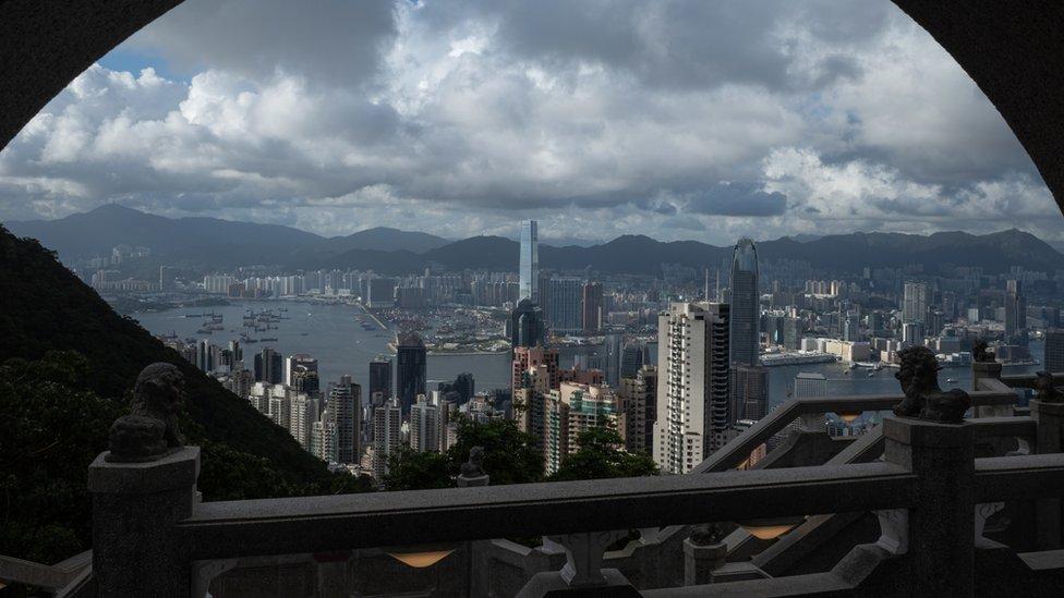 從香港山頂眺望維多利亞港(7/7/2021)