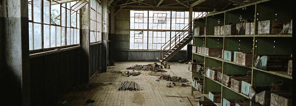 Interior de la fábrica.