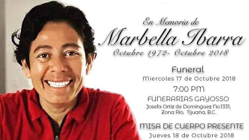 A funeral note for Marbella Ibarra