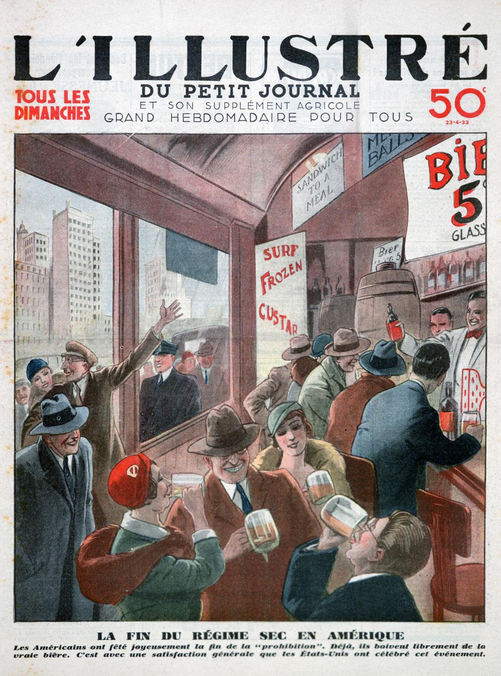 El fin de la Ley Seca, en la portada de una revista francesa.