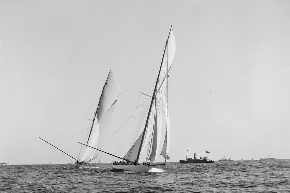 Shamrock I during Americas Cup