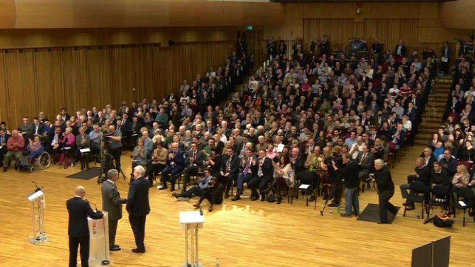 Audience at the debate between Nigel Farage and Carwyn Jones