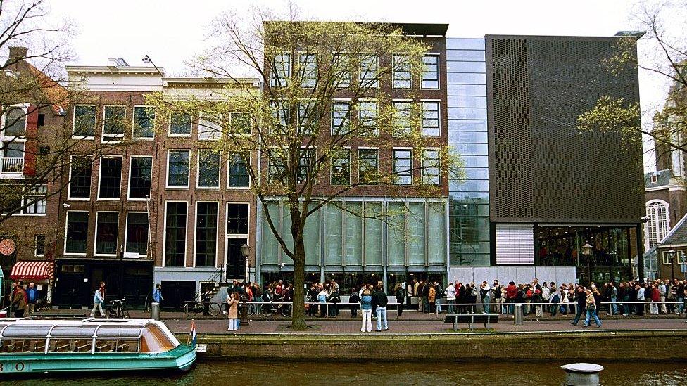 Casa museo de Ana Frank en Ámsterdam.