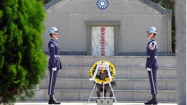 台灣當局舉行儀式,悼念八二三炮戰60年。