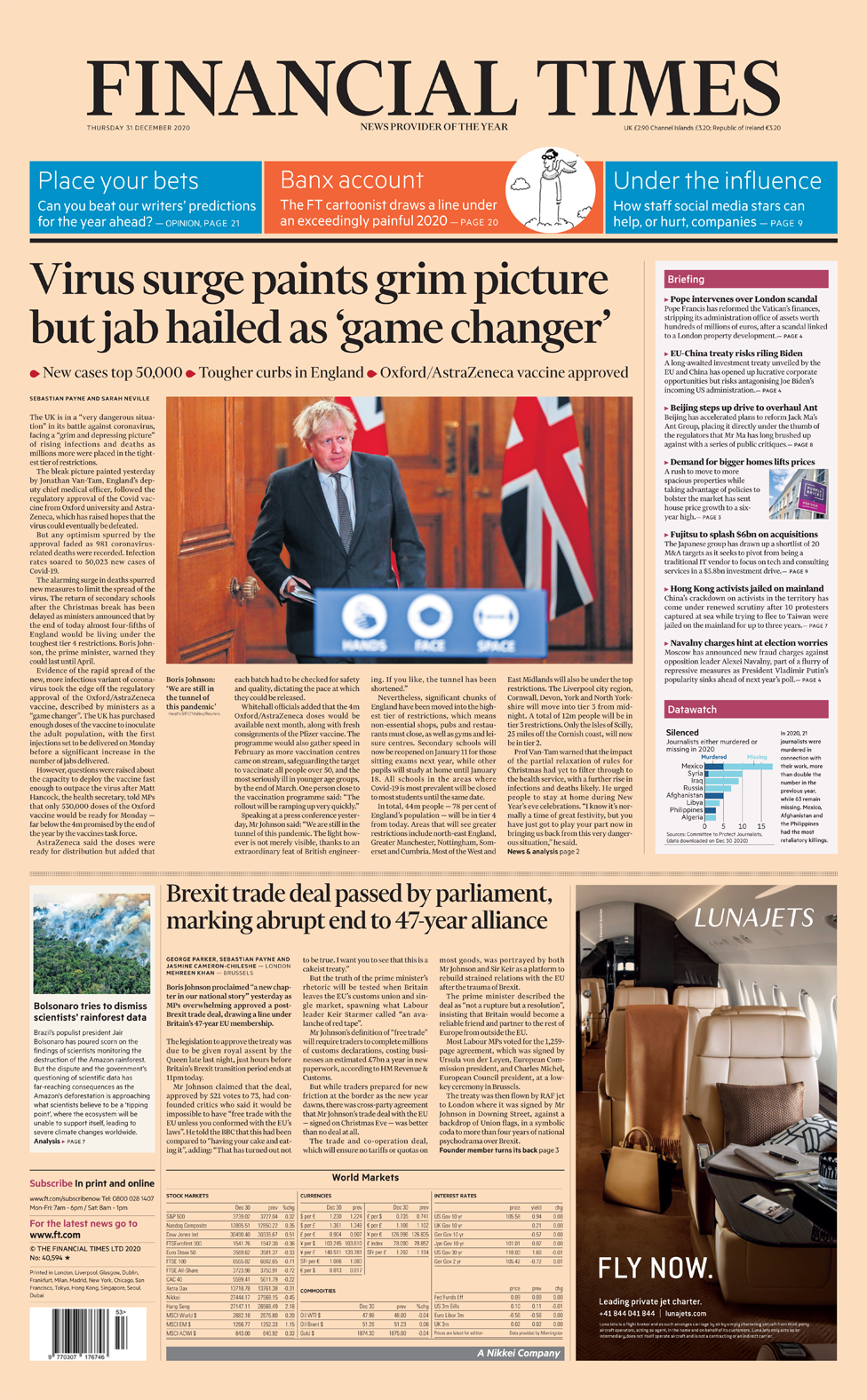 The Papers: 'Jabs for freedom by Easter' and 'schools chaos' thumbnail