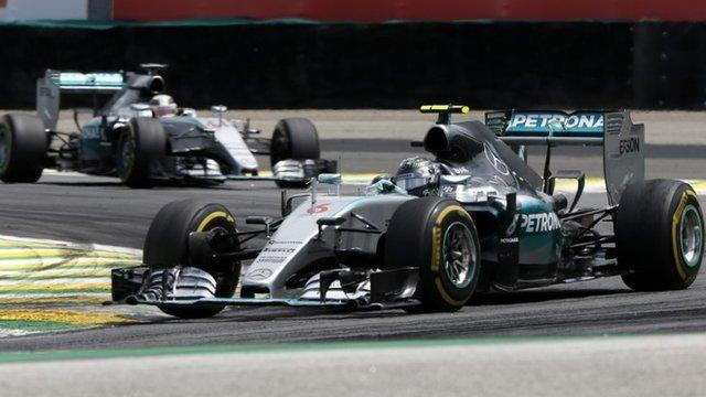 Nico Rosberg leads home Lewis Hamilton in Brazil