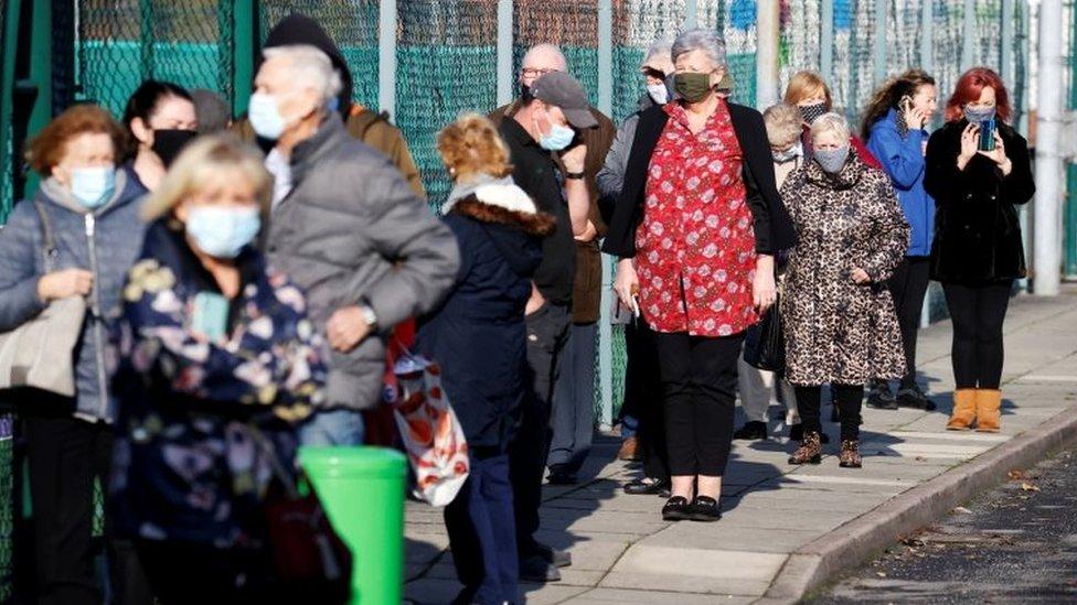 Covid Queues As Liverpool S City Wide Coronavirus Testing Begins Bbc News