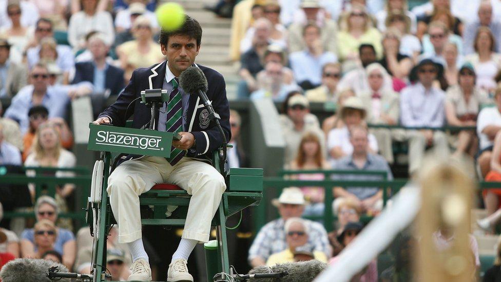 Carlos Ramos en Wimbledon en 2007