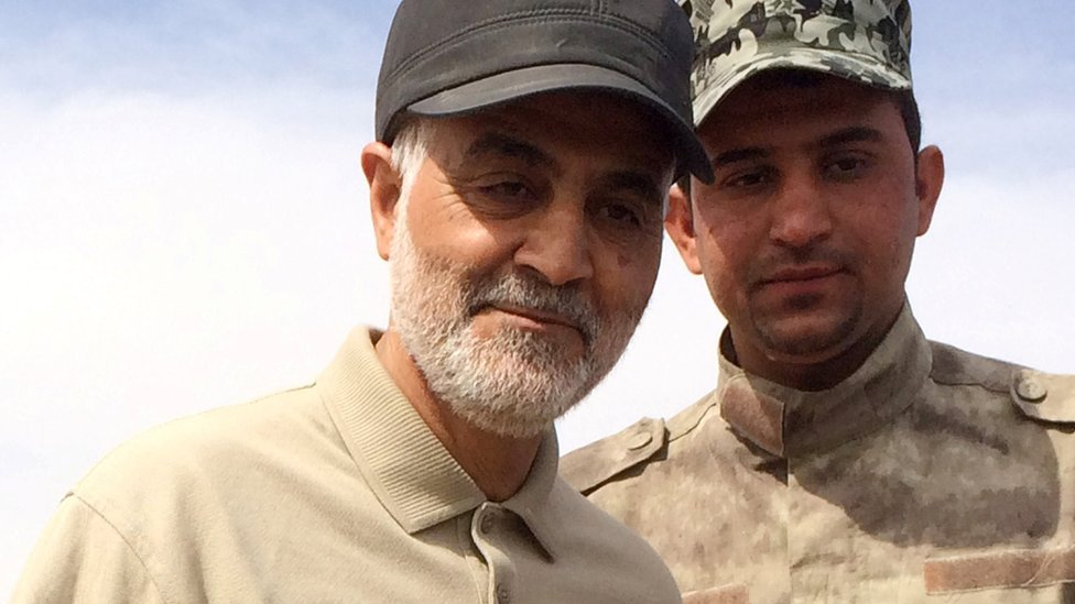 soleimani at front line during anti-IS operations in Iraq