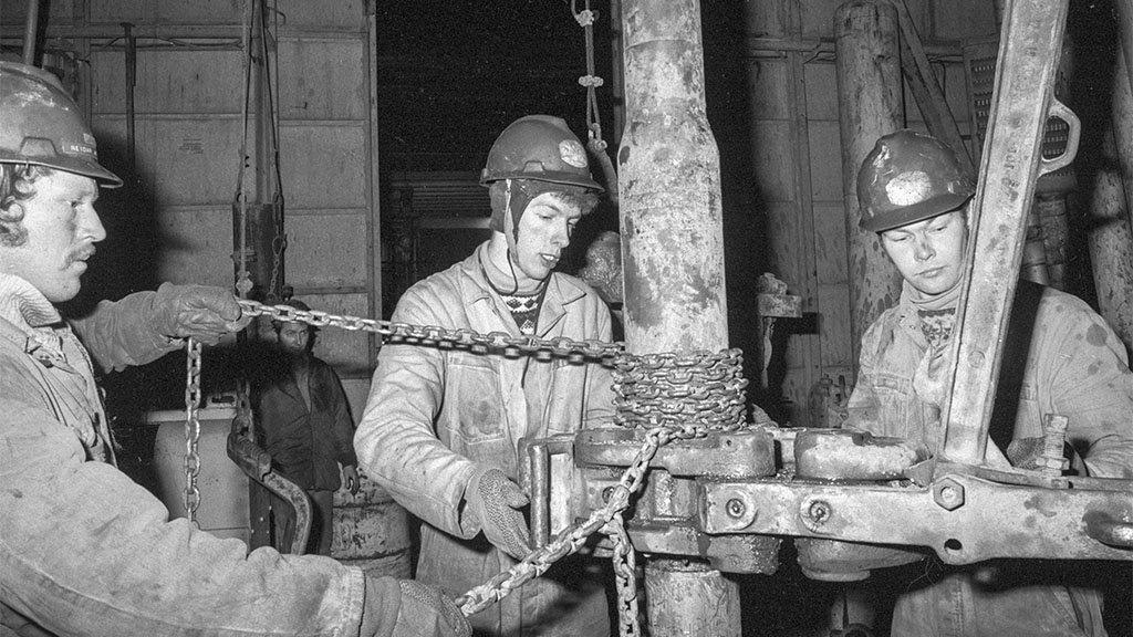The Ekofisk oil drilling platform in 1973