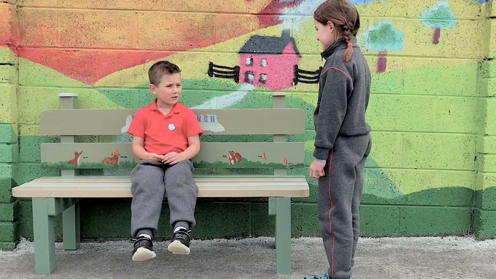 'Buddy Benches' making playtime less lonely