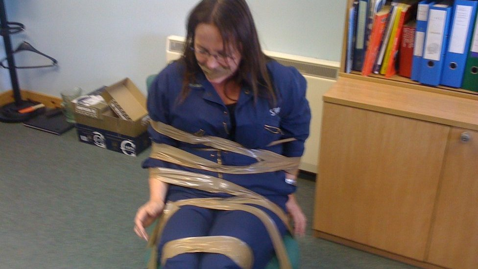 'Whistleblower' taped to chair and gagged