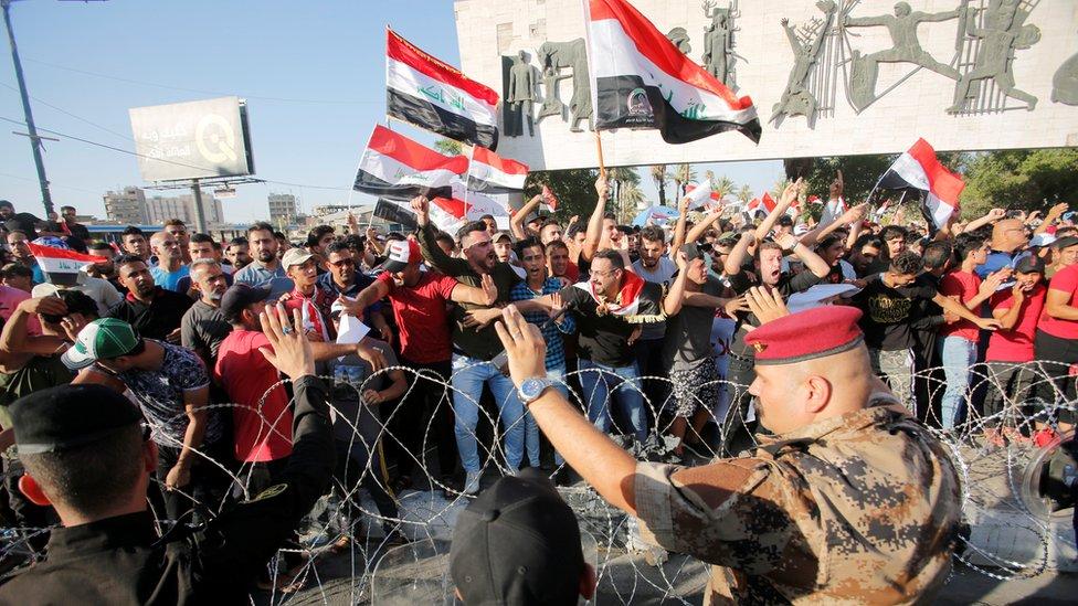 مظاهرات في ساحة التحرير