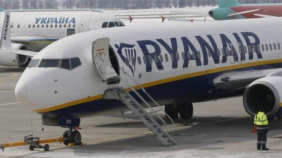 Passenger dies on Edinburgh-bound Ryanair plane