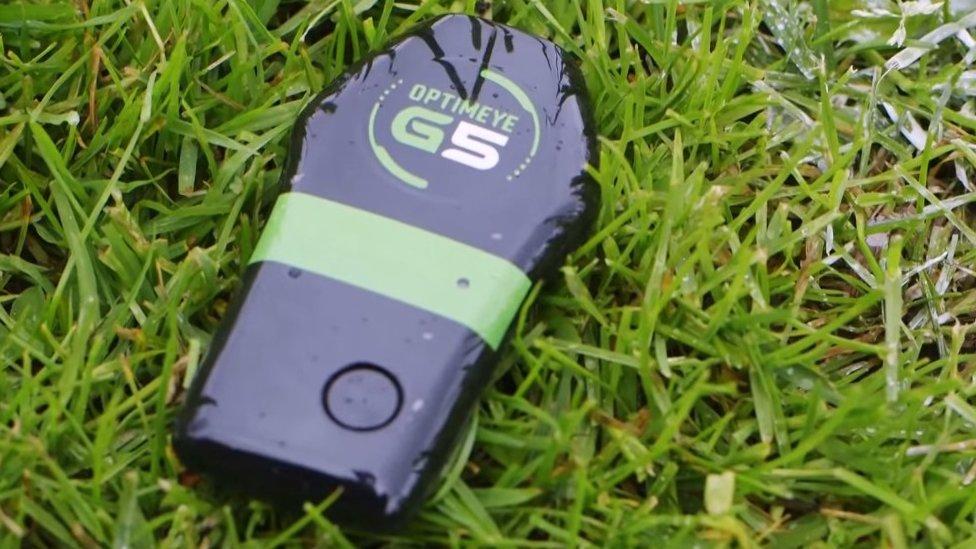 Catapult OptimEye G5 sensor on grass