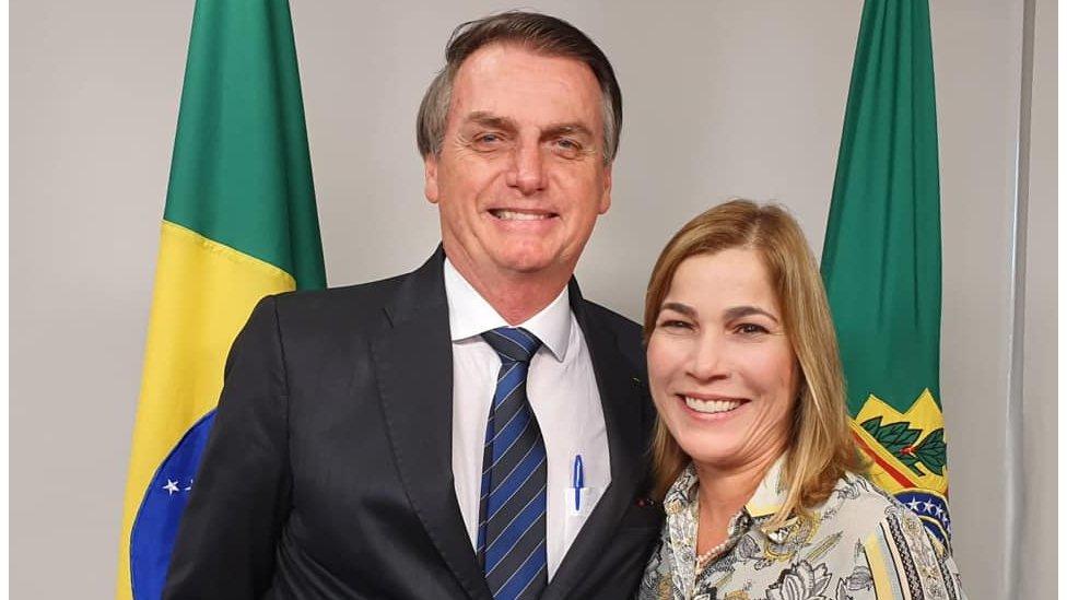 Jair Bolsonaro e Mayra Pinheiro