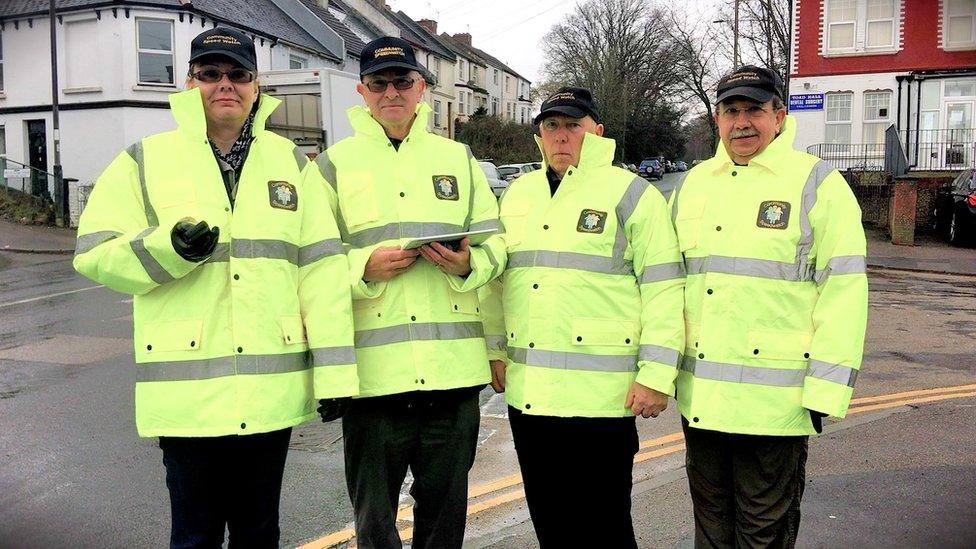Four Speedwatch volunteers