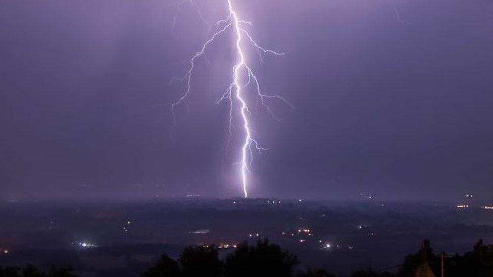 Stoke-on-Trent lightning
