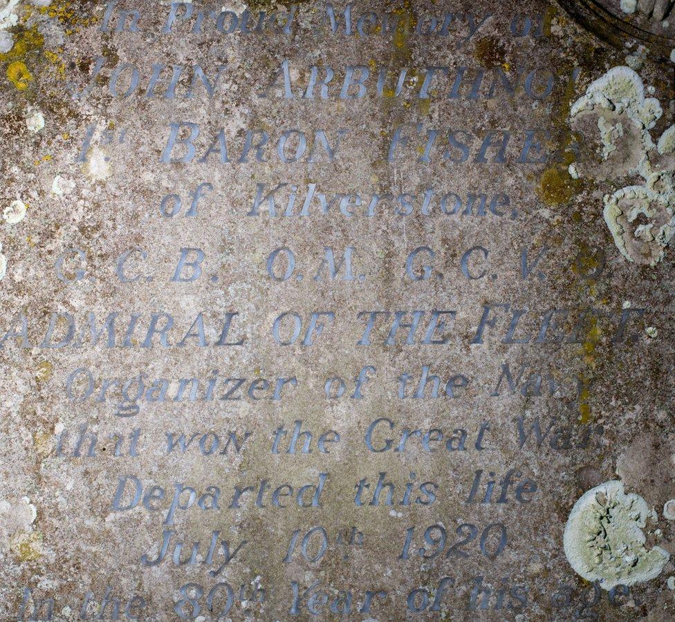 gravestone of Jacky Fisher
