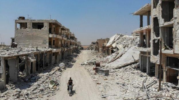 Zonas devastada por la guerra