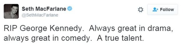 Seth McFarlane tweet