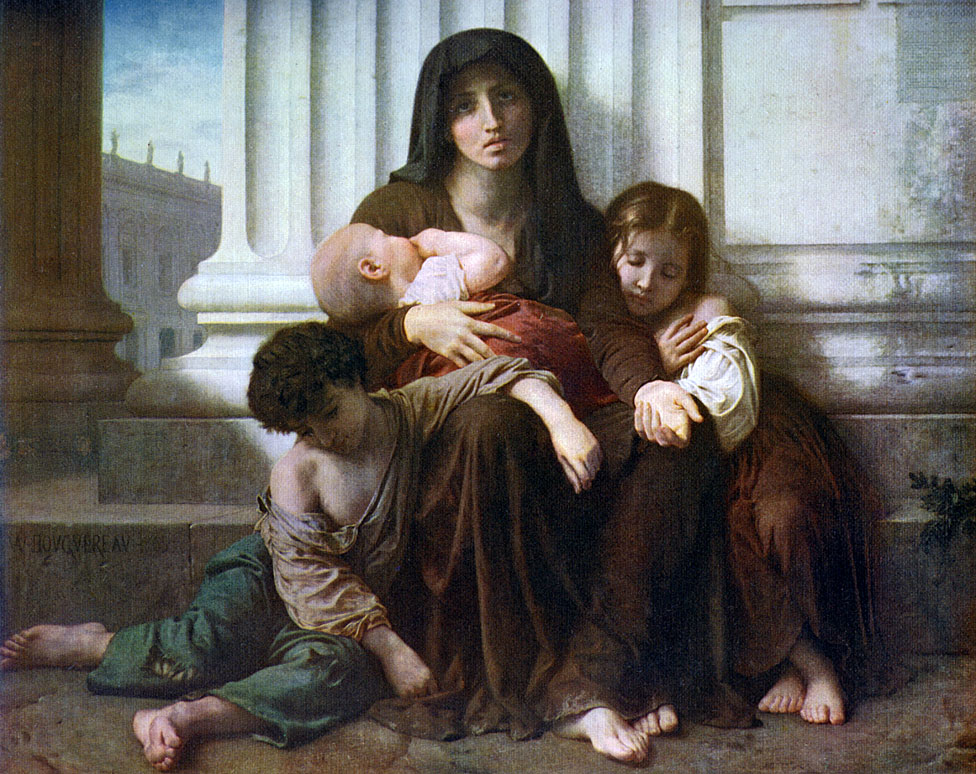 'Charity or The Indigent Family', 1865, (1912).Artist: William-Adolphe Bouguereau