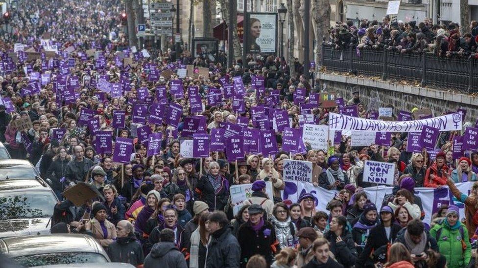 Protest protiv nasilja nad ženama u Parizu, 23. novembar