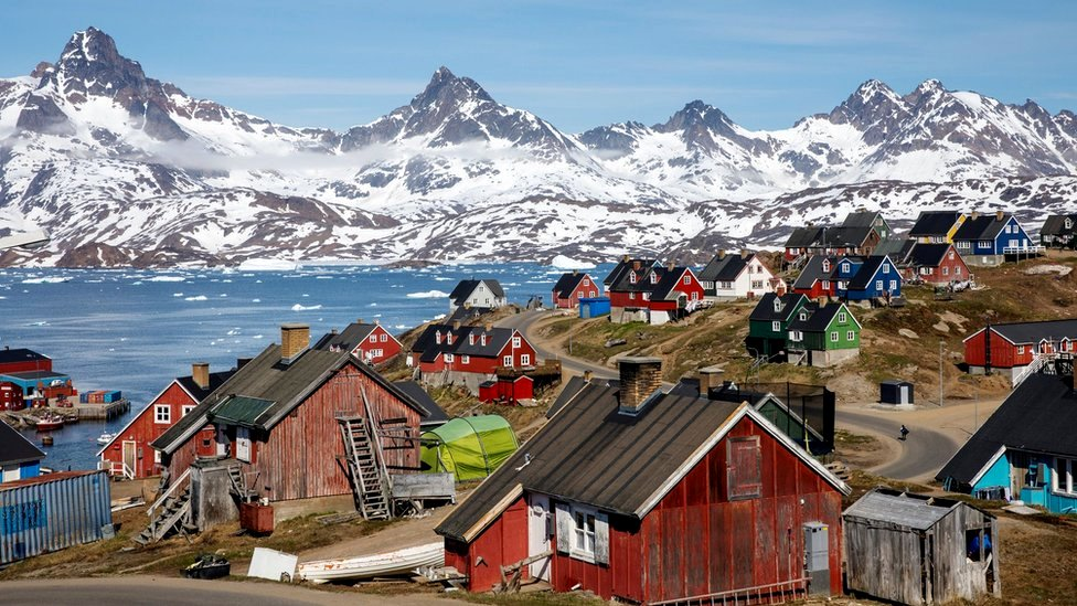 Kota pelabuhan Tasiilaq, Greenland, 15 Juni 2018.