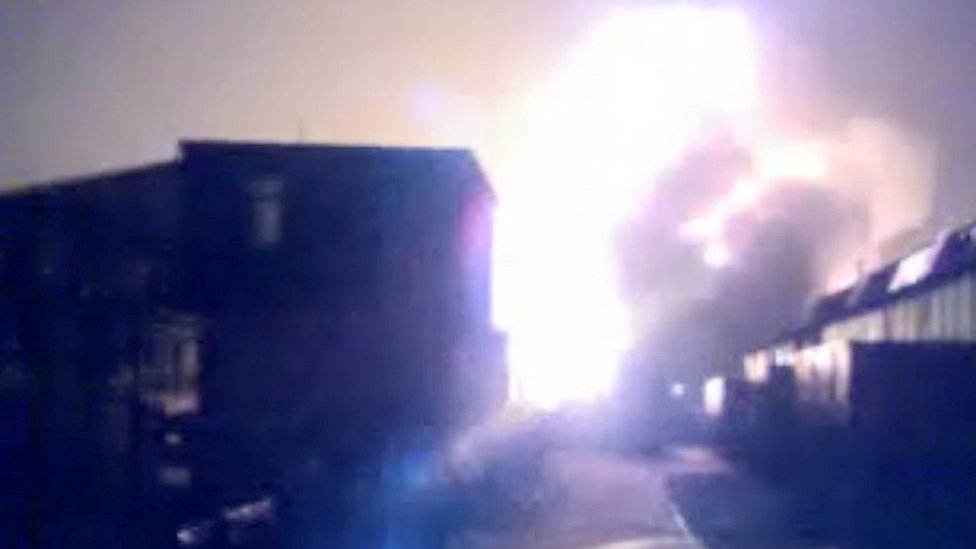 Buncefield fire: 'Idiotic' teens capture fuel depot blaze on film