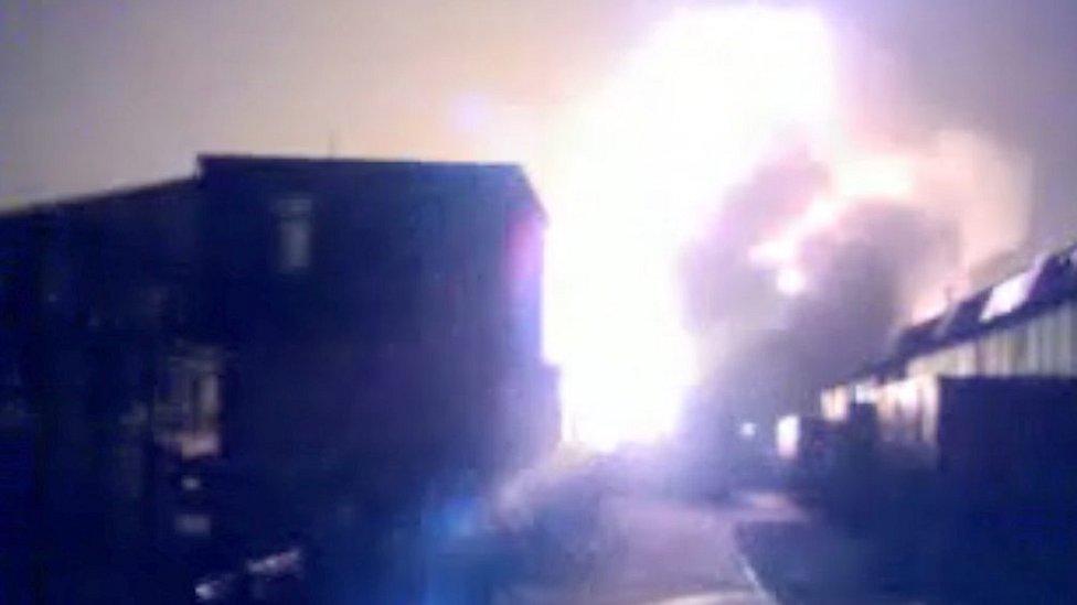 Buncefield fire: 'Idiotic' teens capture fuel depot blaze on film