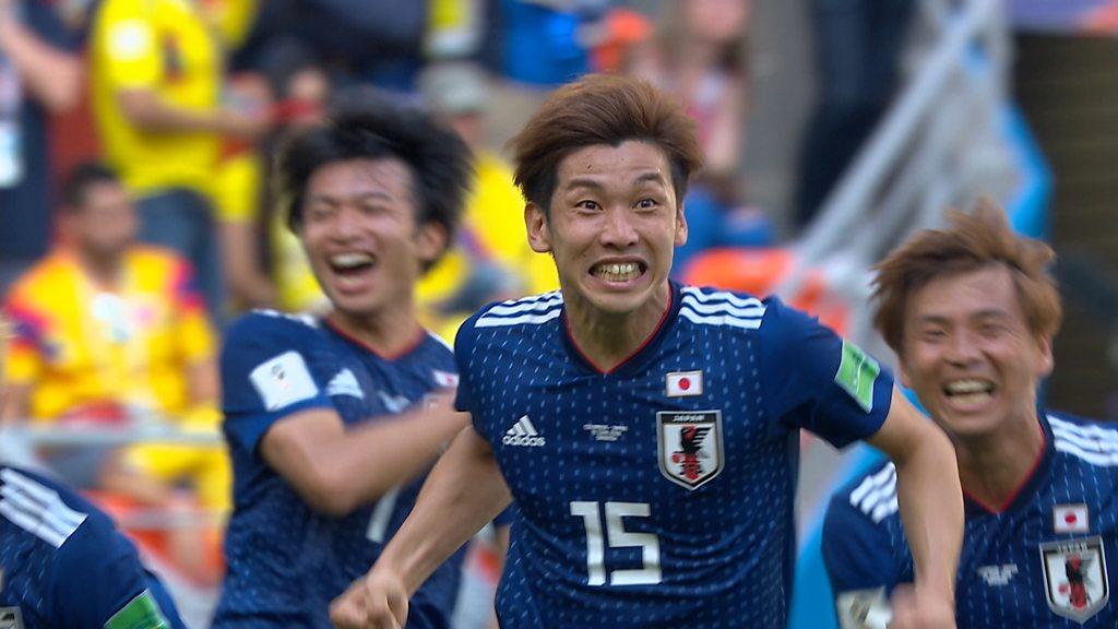 World Cup 2018: Yuya Osako heads Japan ahead against Colombia