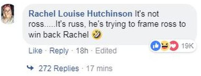 Comentario de Facebook.