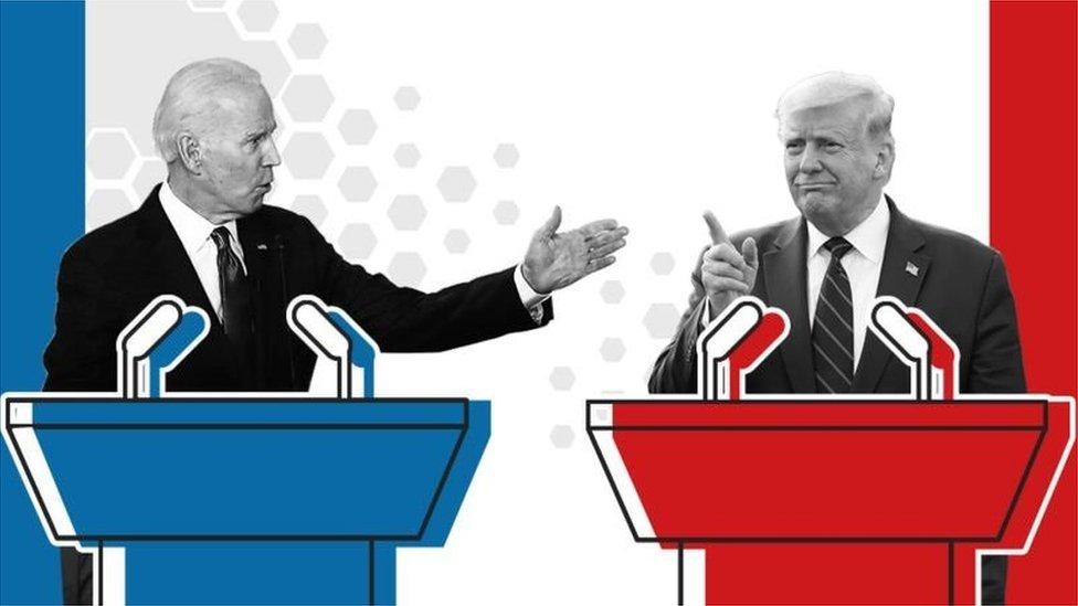 Bajden, Tramp, debata, izbori