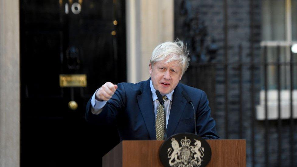 Boris Johnson, primer ministro británico.