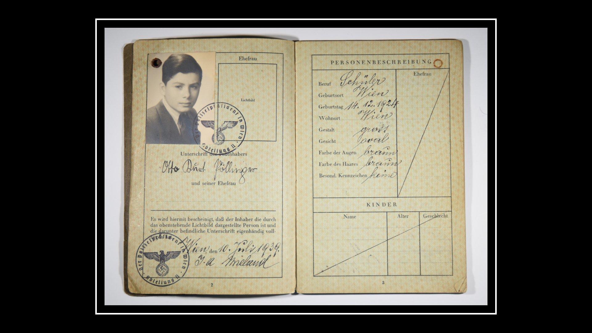 El pasaporte de Kurt con el que logró viajar a Reino Unido