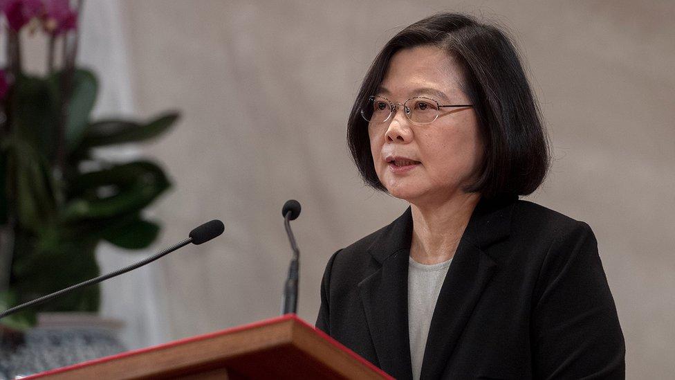La presidenta de Taiwán, Tsai Ing-wen