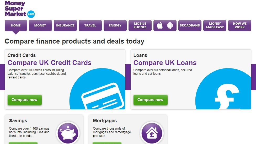 Moneysupermarket website