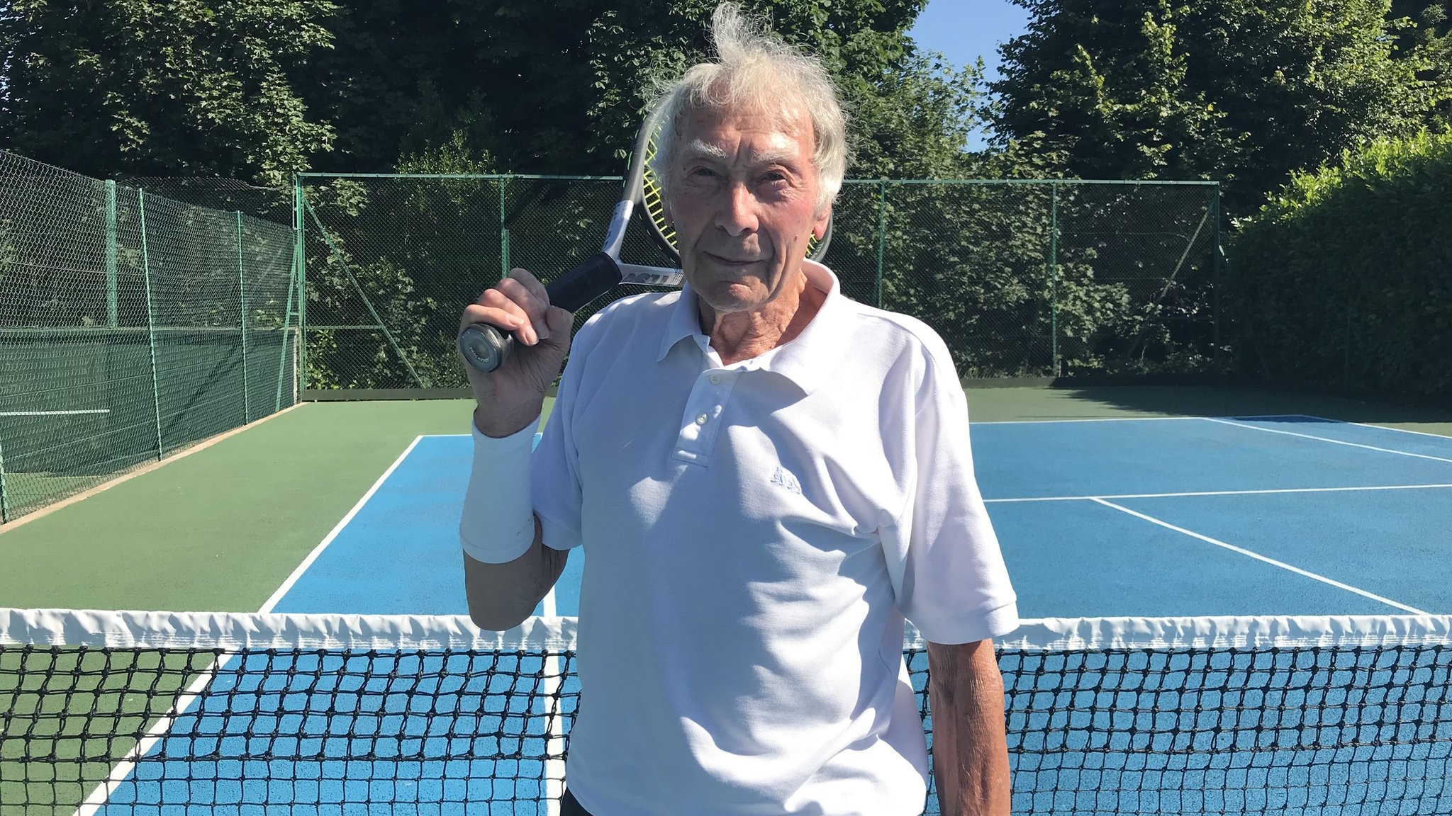 Tennis: 93-year-old John Wright still serving up aces