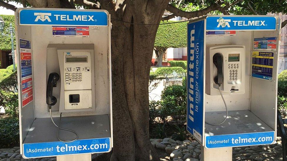 Cabinas telefónicas de Telmex
