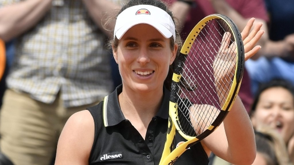 Konta advances at French Open for first time