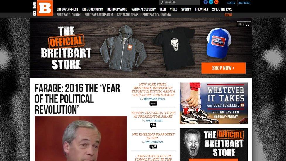How Breitbart became Donald Trump's favourite news site - BBC News