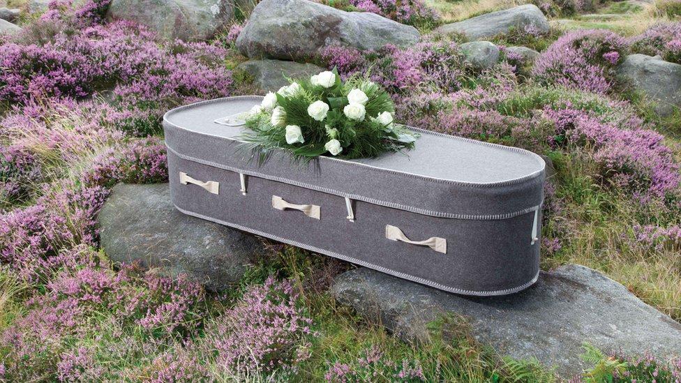 A Natural Legacy woollen coffin