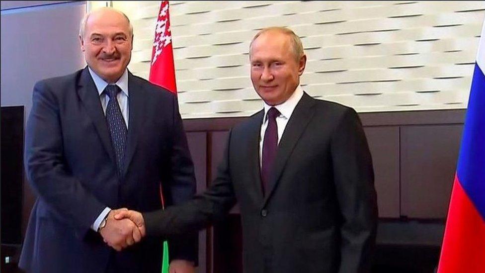 普京和白俄羅斯總統