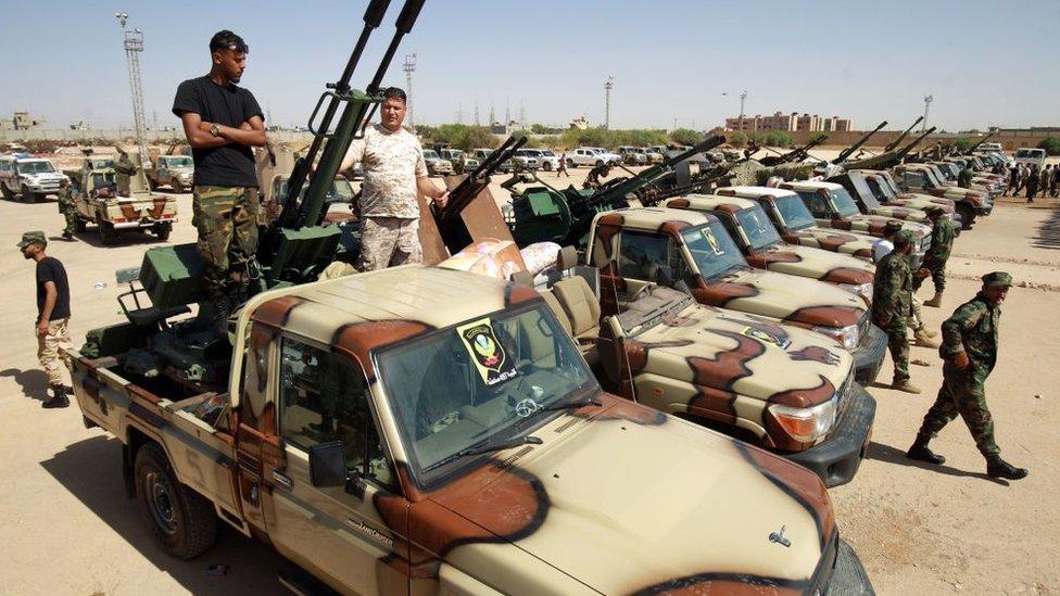 قوات تابعة للجيش الوطني الليبي بقيادة خليفة حفترة