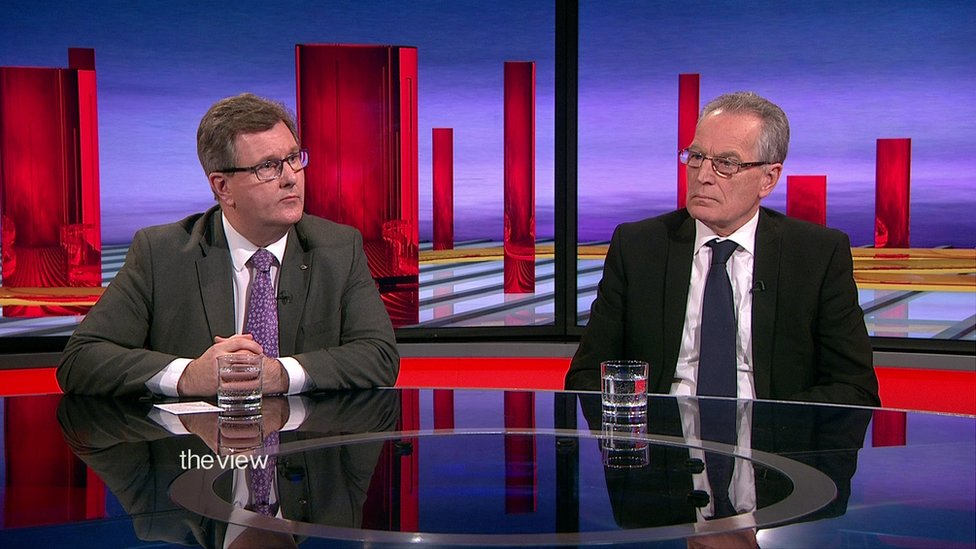 Sir Jeffery Donaldson and Gerry Kelly on The View