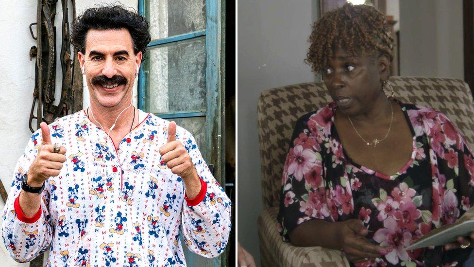 Borat and Jeanise Jones