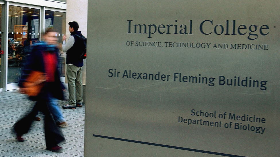 sign for Imperial College, London, medical school