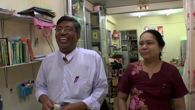 Yan Naing, Candidate for the United National Congress (left)