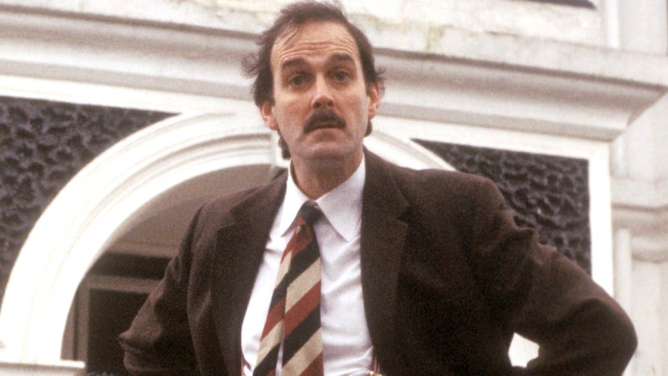 "John Cleese, who played Basil Fawlty, described the move to temporarily remove Fawlty Towers from the UKTV platform as ""stupid"""